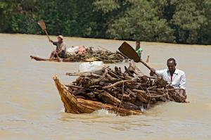 Papyrus Boat on the Lake Tana